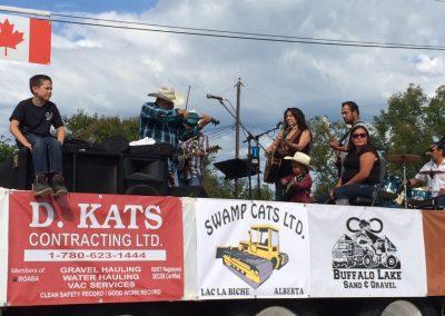 2015 Pow Wow Parade Desjarlais and Company Music